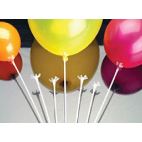 Qualatex White Balloon Saddles (100ct)