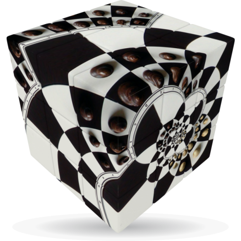 V-Cube Chessboard Illusion - 3 x 3 Flat Puzzle Cube