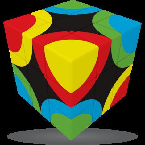 V-Cube Circles United - 3 x 3 Flat Puzzle Cube