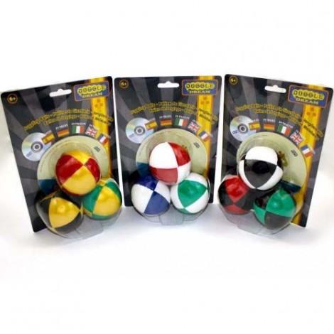 3 x Juggle Dream '8 Balls' & DVD - Pack