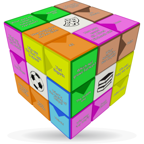 V-Cube Quiz - 3 x 3 Flat Puzzle Cube