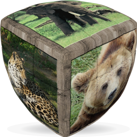 V-Cube Wild Animals - 3 x 3 Pillow Puzzle Cube