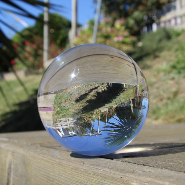 CLEAR 80mm UV ACRYLIC CONTACT JUGGLING BALL