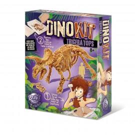 BUKI Dinosaur Model Kit - Triceratops Fossil Skeleton