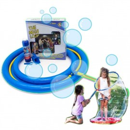 Uncle Bubble Giant Bubble Wand Mega-Loop. Giant Bubbles Big Enough To Stand-In. Hours of Indoor Fun