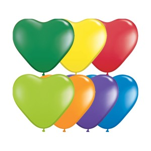 "Qualatex 6"" Heart Balloon Assortment"