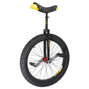 "Qu-Ax 24"" Muni Starter Trials Unicycle - Off-Road Freestyle Model - Black"