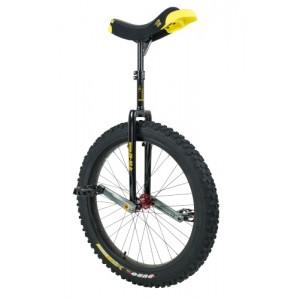 "Qu-Ax 24"" Muni Trials Unicycle - Off-Road Freestyle Model - Black"