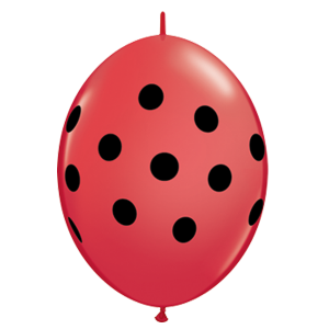 "Qualatex 6"" Q-Link Polka Dot Balloons"