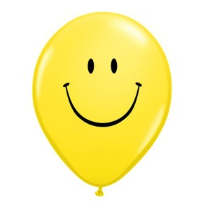 "Qualatex 5"" Yellow Smile Face Ballons"
