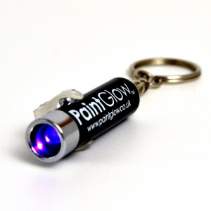PaintGlow UV LED Torch Keyring