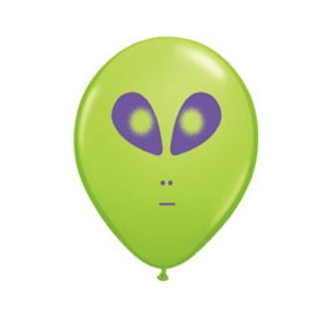 "Qualatex 5"" Alien Face Balloons - Various Colours"