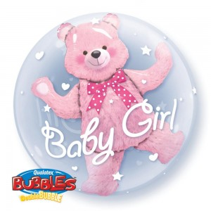 "Qualatex 24"" 'Baby Bear' Double Bubble Balloon"