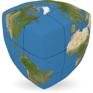 V-Cube EARTH - 2 x 2 Pillow Cube