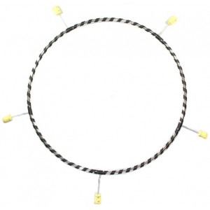 Gora - 5 Section Poly Pro Travel Fire Hula Hoop.