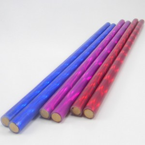 Holographic/Glitter Devil Stick Hand Sticks - 12mm dowel 2mm silicon.