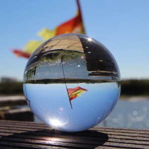 85mm Juggle Dream Crystal Clear Acrylic Contact Juggling Ball