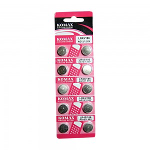 LR43 Cell Batteries (pack of 10 batteries)