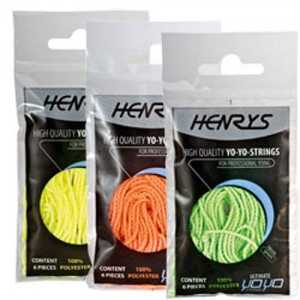 Henry's Yo-Yo String Pack - 6x Neon Orange Strings