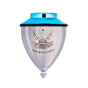 Trompos Space Neptuno Spinning Top - Roller Tip - Blue Lid