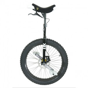 "QX Series Muni - 24"" - Black - Disc Brake Unicycle"