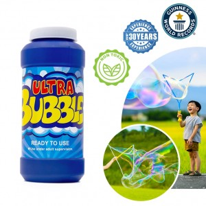 Uncle Bubble Ready-to-use Bubble Solution 236 Mililitres (8 Fluid Ounces). Instant Play Bubble Solution Liquid For Giant Bubble Wands, Bubble Machines, Bubble Blowers. Fun Outdoor Garden Toy