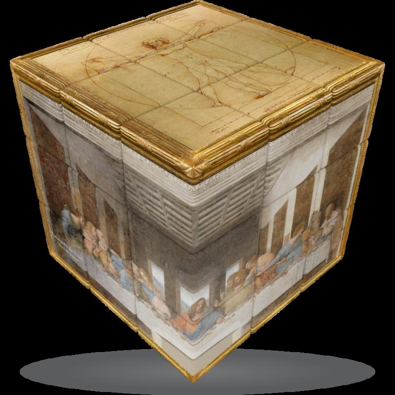 V-Cube Leonardo Da Vinci - 3 x 3 Flat Puzzle Cube